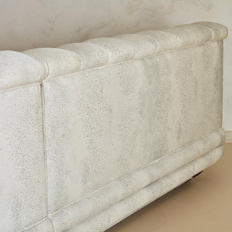 Channeled Serpentine Sectional Sofa For Sale 8