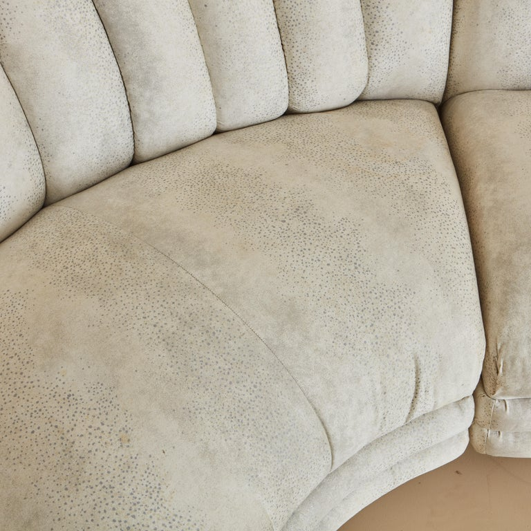 Channeled Serpentine Sectional Sofa For Sale 2