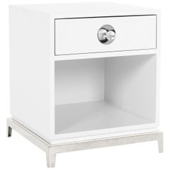 Channing White Lacquer End Table