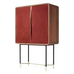 Chantal Red Bar Cabinet by Andrea Pinori and Giorgio Balestri
