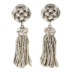 Chantal Thomass Dangle Clip Earrings Braided and Tassel