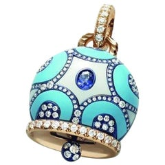 Chantecler 18 Karat Gold Maiolica Turquoise Charm, Exclusively at Hamilton Jewel