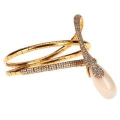Chantecler Capri Rose Gold White agate Diamonds Bracelet