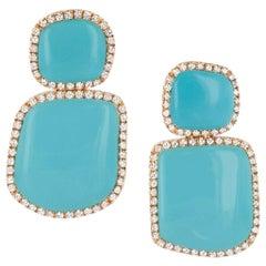 Chantecler Enchante Turquoise Earrings