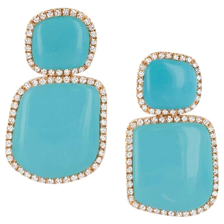 Chantecler Enchante Turquoise Earrings For Sale