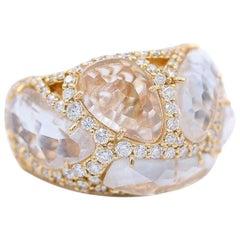 Chantecler Enchanted 18 Karat Rose and Crystal Ring