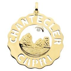 Chantecler Logo 18 Karat Gold Faraglioni Pendant