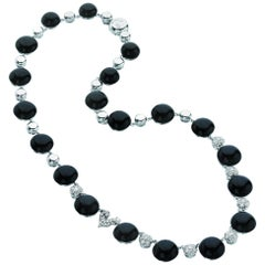 Chantecler of Capri Black Onyx and Diamond Necklace