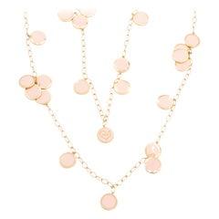 Chantecler Paillettes Pink Enamel Necklace, Exclusively