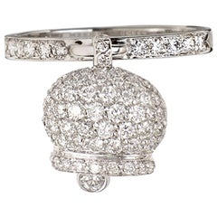Chantecler Ring Set in White Gold and Diamonds Pavé