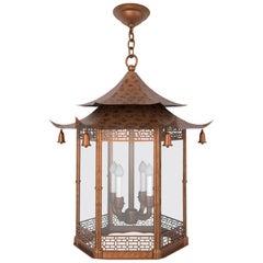 Chanteloup Lantern Light by David Duncan, Chinoiserie Style Hanging Lantern