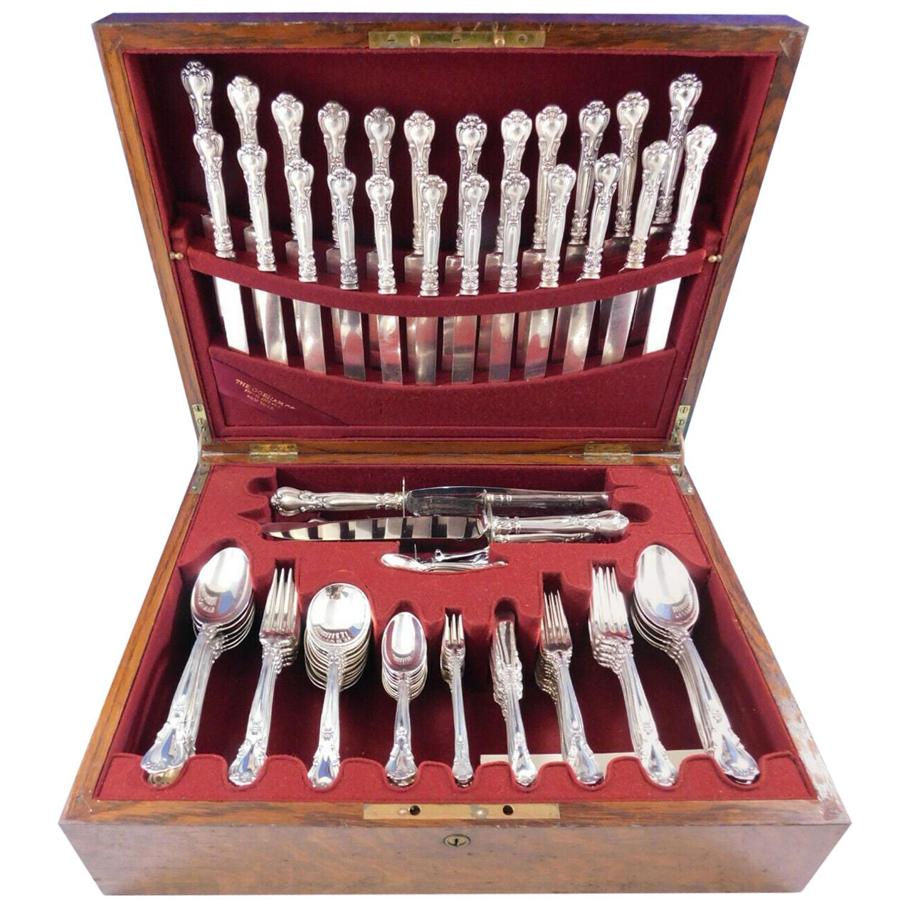 Chantilly by Gorham Sterling Silver Flatware Set for 12 Service 125 pcs Dinner