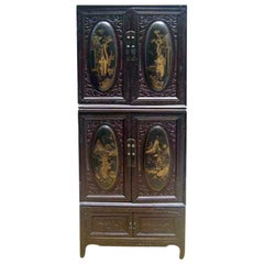 Chaozhou Cabinet with Painted and Carved Panels 2