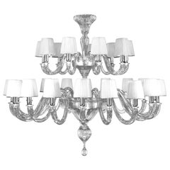 Chandelier 18+9 arms Crystal Murano Glass handmade lampshades by Multiforme