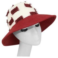 Chapeaux Motsch Pour Hermès Linen & Chenille Bucket Hat