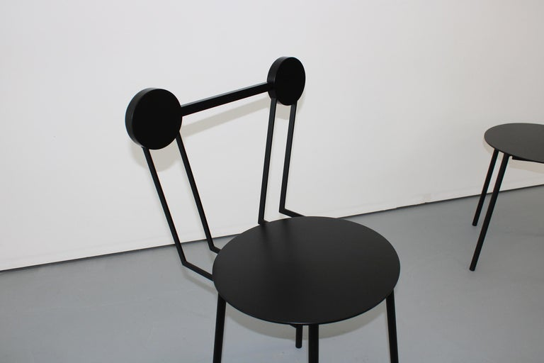 Other Chapel Petrassi Contemporary Chair Black Haly Aluminium  For Sale
