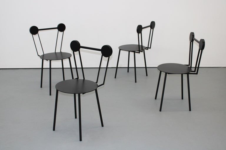Chapel Petrassi Contemporary Chair Black Haly Aluminium  In New Condition For Sale In Le Perreux-sur-Marne, FR