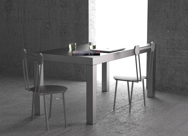 Chapel Petrassi Contemporary Table/Desk Hitan Aluminium For Sale 2