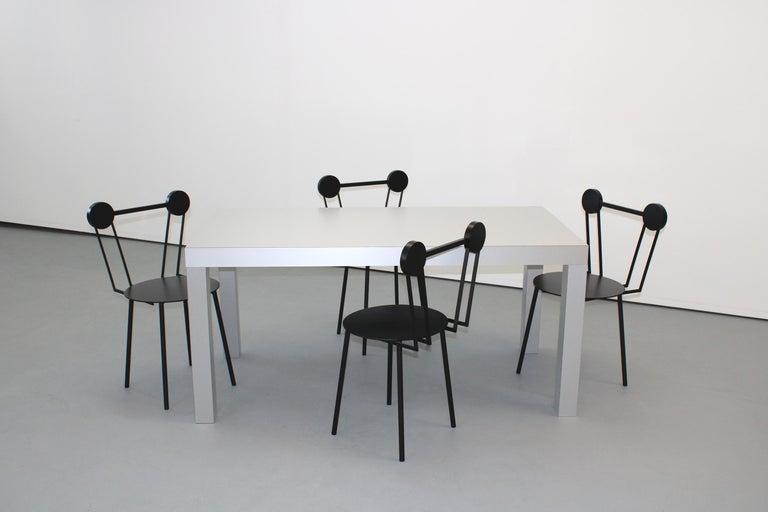 Italian Chapel Petrassi Contemporary Table/Desk Hitan Aluminium For Sale