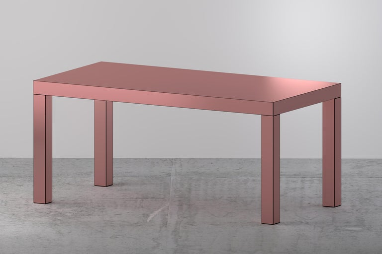 Wood Contemporary Table/Desk Hitan Aluminium by Chapel Petrassi For Sale