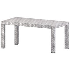 Chapel Petrassi Table/Desk White California Hitan Wood and Decorative Laminates