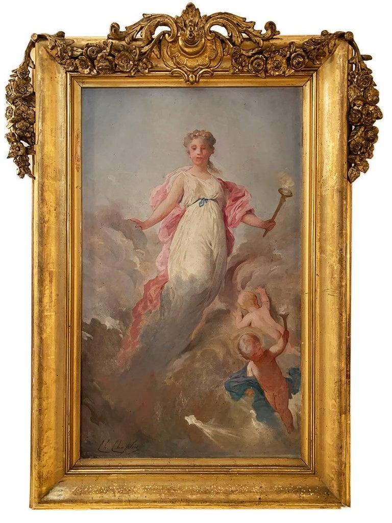 ChaplinCharles (1825-1891) Pair of allegorical panels