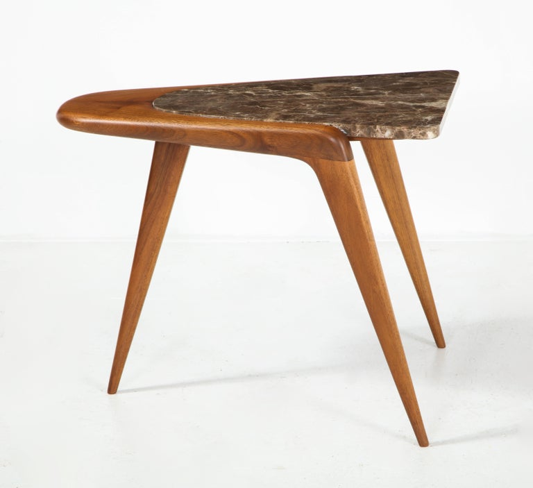Chaplin End Table in Wood & Stone Offered by Vladimir Kagan Design Group For Sale 5