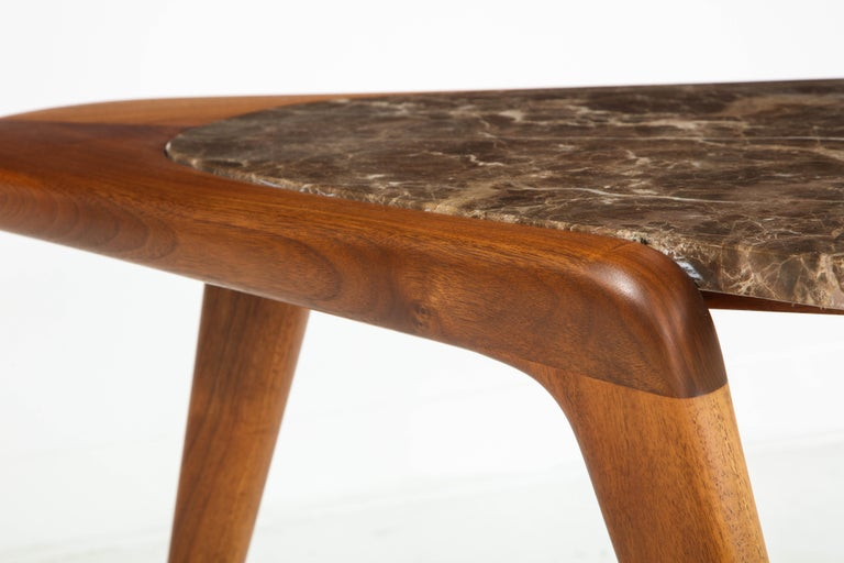 Chaplin End Table in Wood & Stone Offered by Vladimir Kagan Design Group For Sale 8