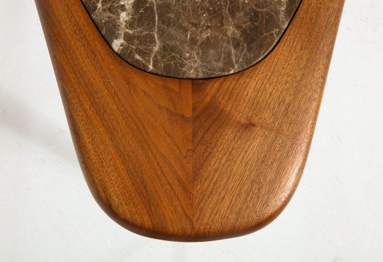 Chaplin End Table in Wood & Stone Offered by Vladimir Kagan Design Group For Sale 9