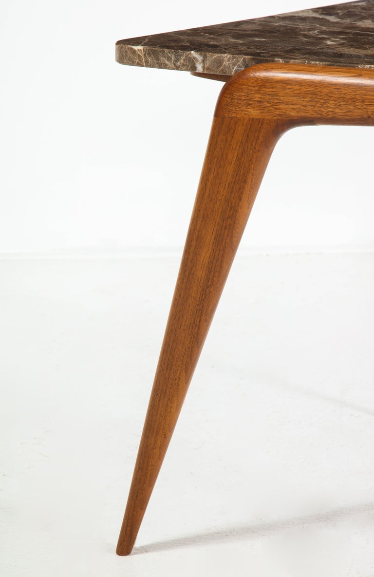 Chaplin End Table in Wood & Stone Offered by Vladimir Kagan Design Group For Sale 1
