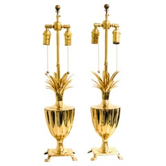 Chapman Brass Pineapple Table Lamps