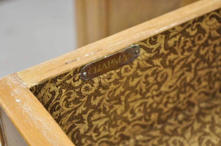 Chapman Italian Neoclassical Burl Wood Patchwork Olivewood Tall Secretary Desk For Sale 6