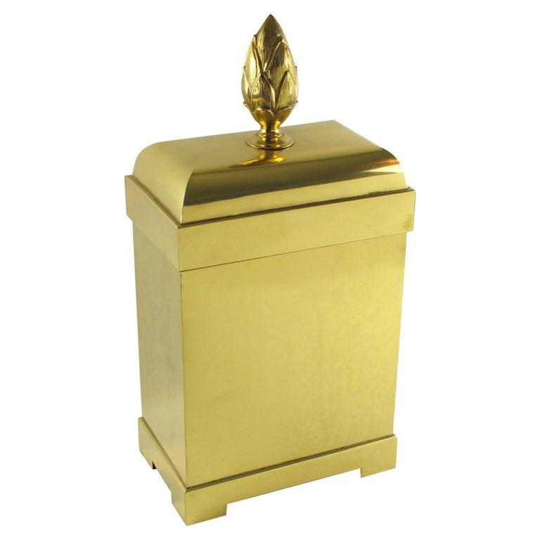 Chapman Tall Brass Box or Magazine Storage For Sale