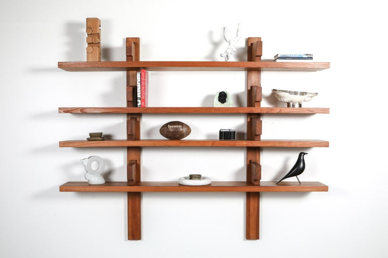 Mid-Century Modern Chapo B17 Book Shelve in Solid French Elm, 1960 For Sale