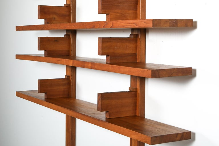 Mid-20th Century Chapo B17 Book Shelve in Solid French Elm, 1960 For Sale