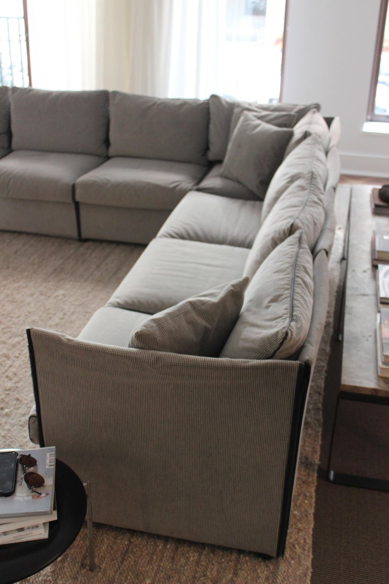Italian Char-a-Banc Sofa by Mario Bellini for Cassina For Sale