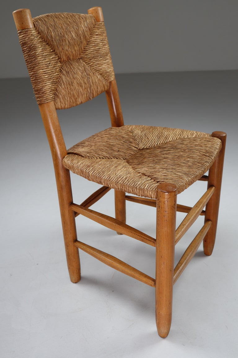 """Characteristic """"Bauche"""" Chair by Charlotte Perriand for Steph Simon, France 1950 For Sale 3"""