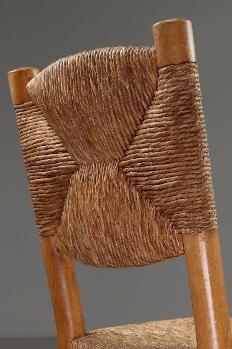 """Mid-Century Modern Characteristic """"Bauche"""" Chair by Charlotte Perriand for Steph Simon, France 1950 For Sale"""