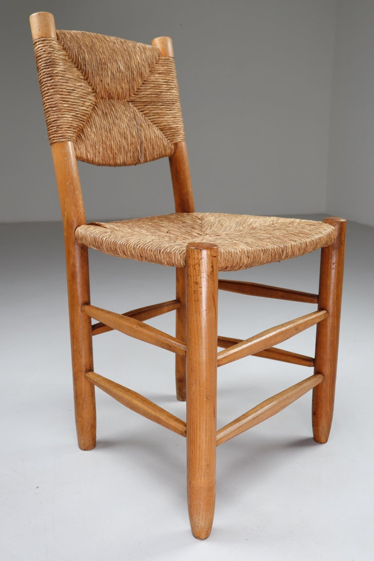 """Characteristic """"Bauche"""" Chair by Charlotte Perriand for Steph Simon, France 1950 For Sale 1"""