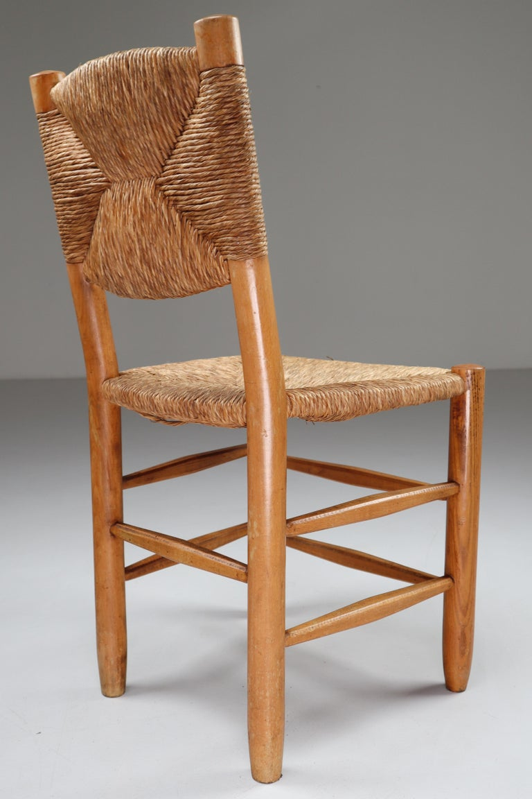 """Characteristic """"Bauche"""" Chair by Charlotte Perriand for Steph Simon, France 1950 For Sale 2"""