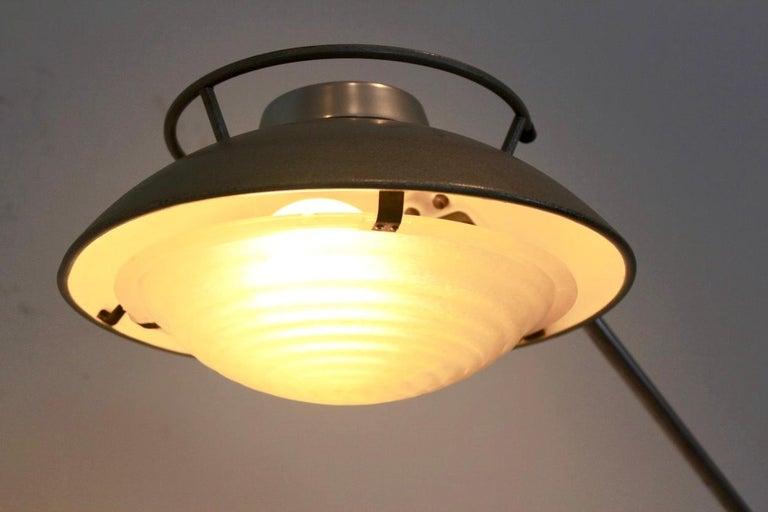 Steel Characteristic 'Model 219S' Industrial Floor Lamp by Louis Ferdinand Solère For Sale