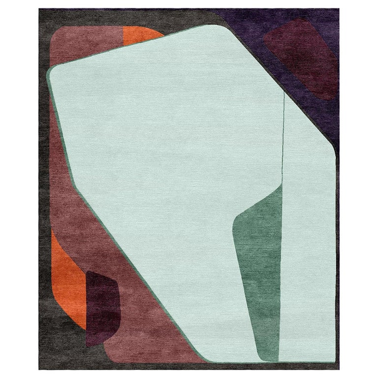 Charades with Aisedora Hand-Tufted Wool and Viscose Rug For Sale