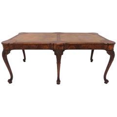 Charak Leather Topped Coffee Table in the Georgian Style, Dated 1937