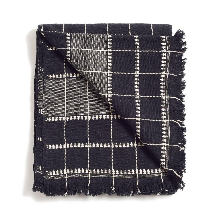 Modern Charco Handloom Throw / Blanket For Sale