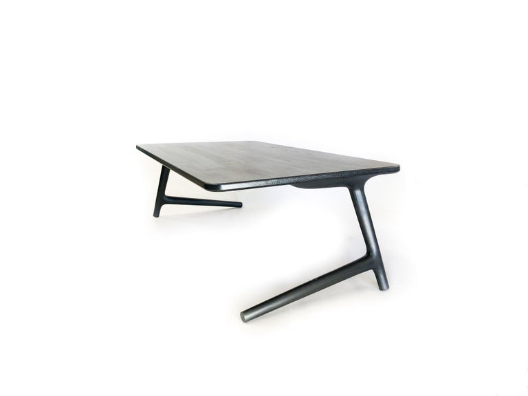 Charcoal ash coffee table by Fernweh Woodworking Dimensions:  W 24