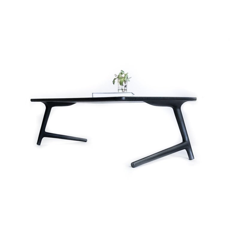Modern Charcoal Ash Coffee Table by Fernweh Woodworking For Sale