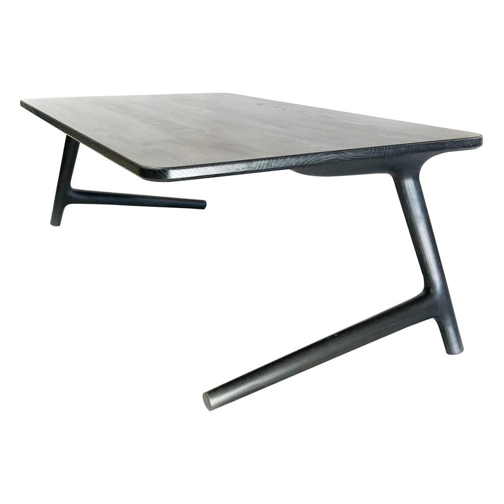 Charcoal Ash Coffee Table by Fernweh Woodworking