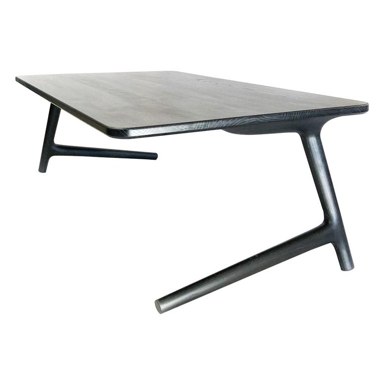 Charcoal Ash Coffee Table by Fernweh Woodworking For Sale