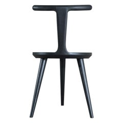 Charcoal Ash Oxbend Chair 3 Legs by Fernweh Woodworking