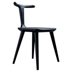 Charcoal Ash Oxbend Chair by Fernweh Woodworking